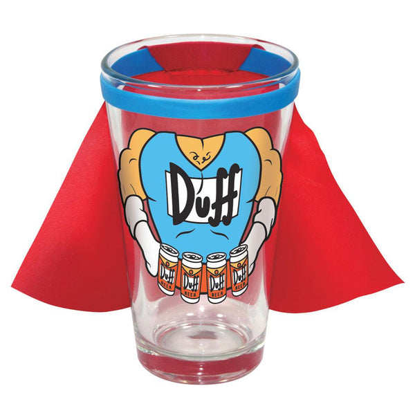 Simpsons - Duffman Caped Pint Glass