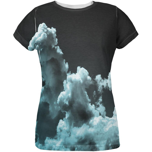 Black Clouds All Over Womens T-Shirt