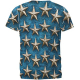 Metal Stars All Over Adult T-Shirt