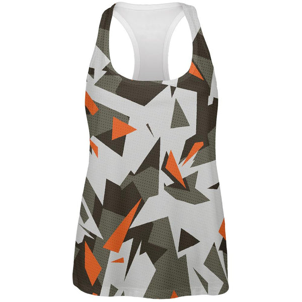 Modern Camo All Over Womens Racerback Tank Top