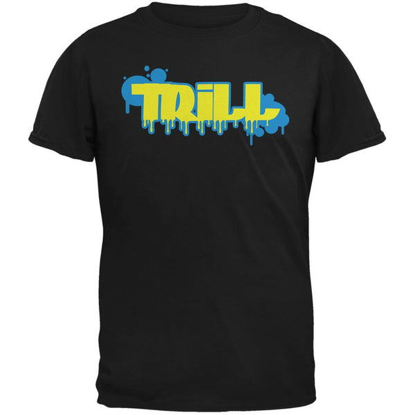 Trill Graffiti Black Adult T-Shirt