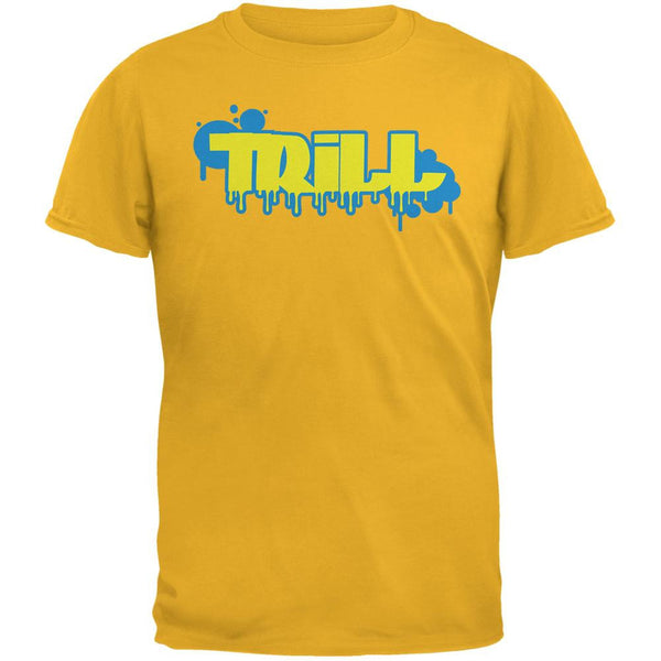 Trill Graffiti  Gold Adult T-Shirt