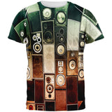 Retro Speakers All Over Adult T-Shirt