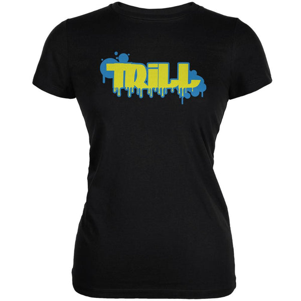 Trill Graffiti Black Juniors Soft T-Shirt