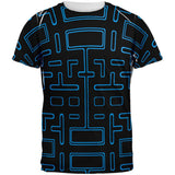 Video Game Maze All Over Adult T-Shirt