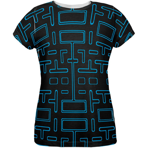 Video Game Maze All Over Womens T-Shirt