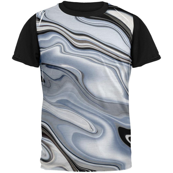 Liquid Chrome Adult Black Back T-Shirt