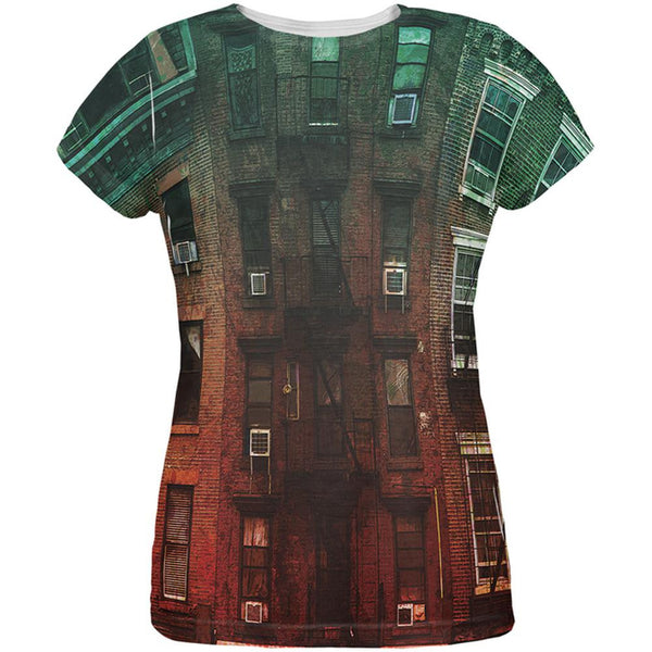 Urban Brick Building All Over Womens T-Shirt