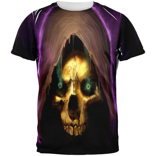 Halloween Grim Reaper All Over Adult T-Shirt
