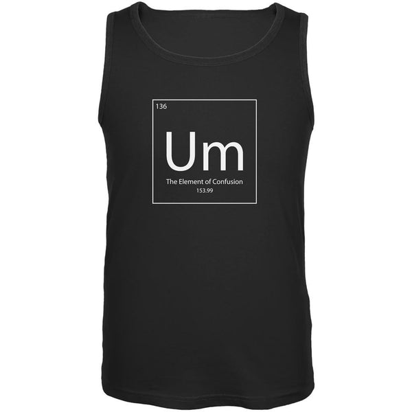 Um Periodic Table Black Adult Tank Top