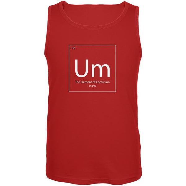 Um Periodic Table Red Adult Tank Top