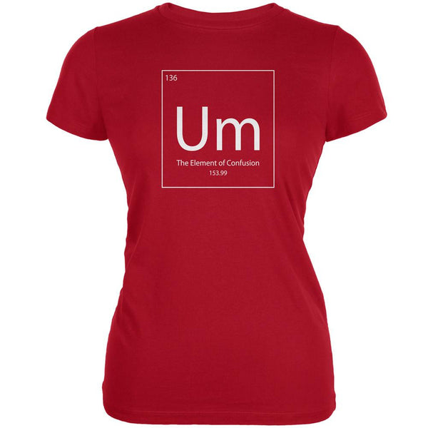 Um Periodic Table Red Juniors Soft T-Shirt