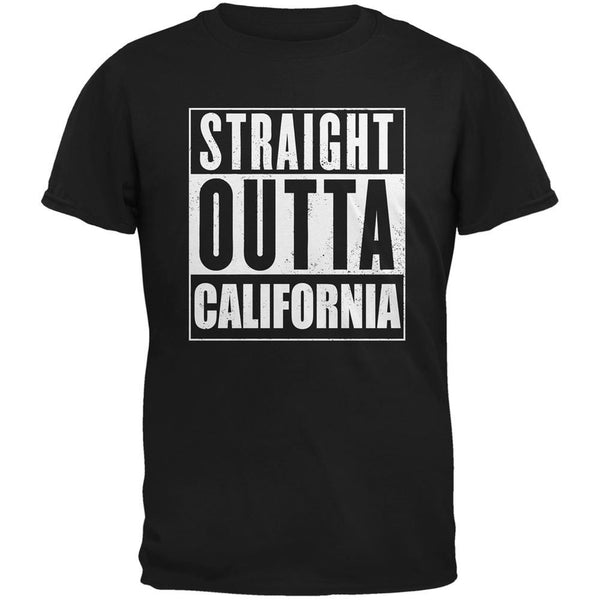 Straight Outta California Black Adult T-Shirt