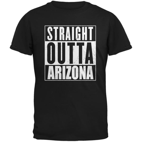 Straight Outta Arizona Black Adult T-Shirt