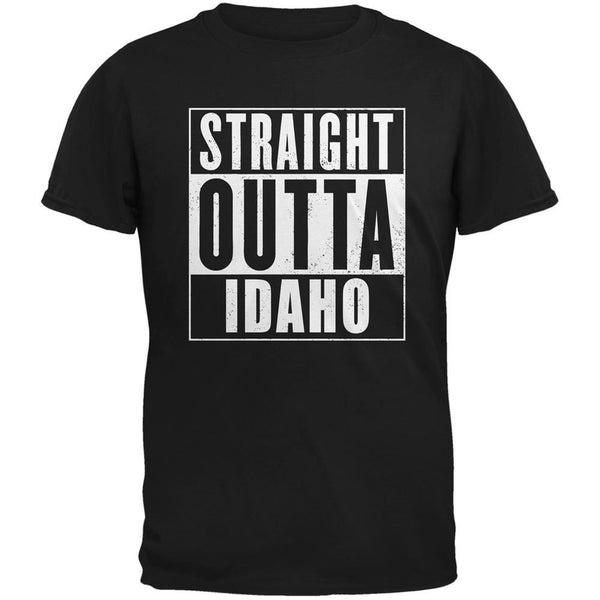 Straight Outta Idaho Black Adult T-Shirt