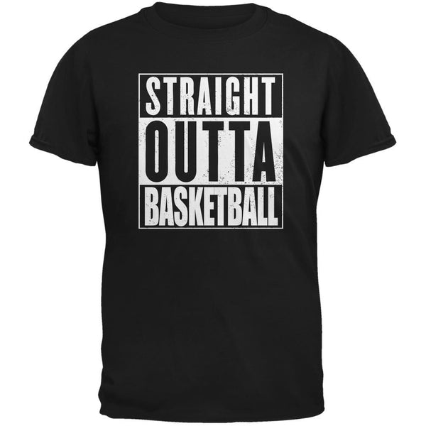 Straight Outta Basketball Black Adult T-Shirt