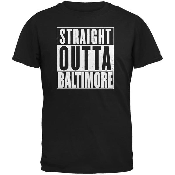 Straight Outta Baltimore Black Adult T-Shirt