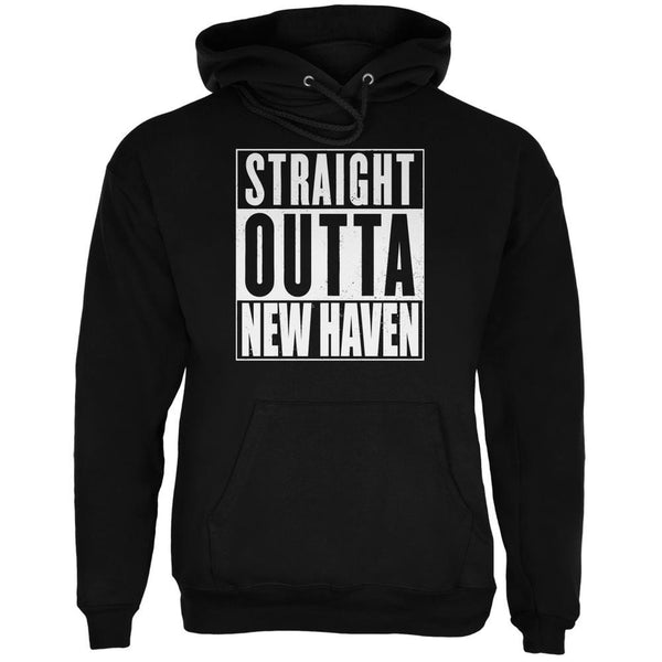 Straight Outta New Haven Black Adult Hoodie