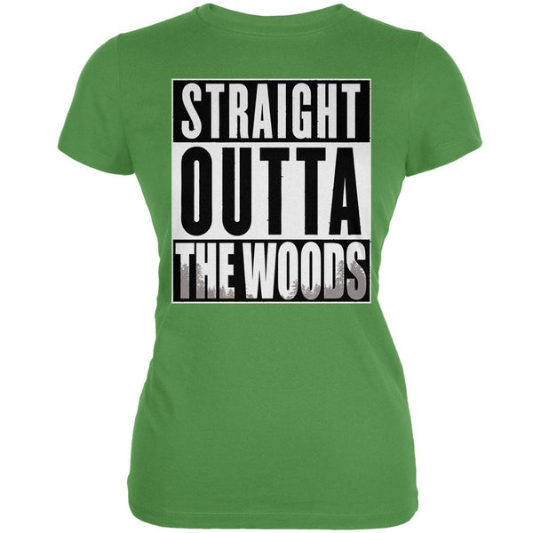 Straight Outta the Woods Leaf Juniors Soft T-Shirt