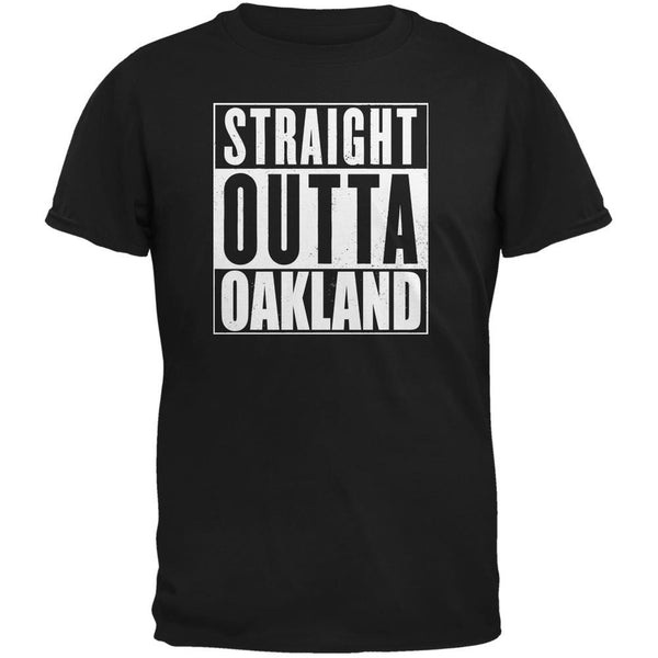 Straight Outta Oakland Black Adult T-Shirt