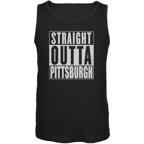 Straight Outta Pittsburgh Black Adult Tank Top