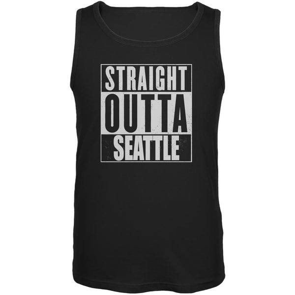 Straight Outta Seattle Black Adult Tank Top