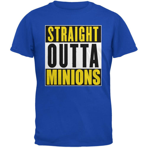 Straight Outta Minions Royal Adult T-Shirt