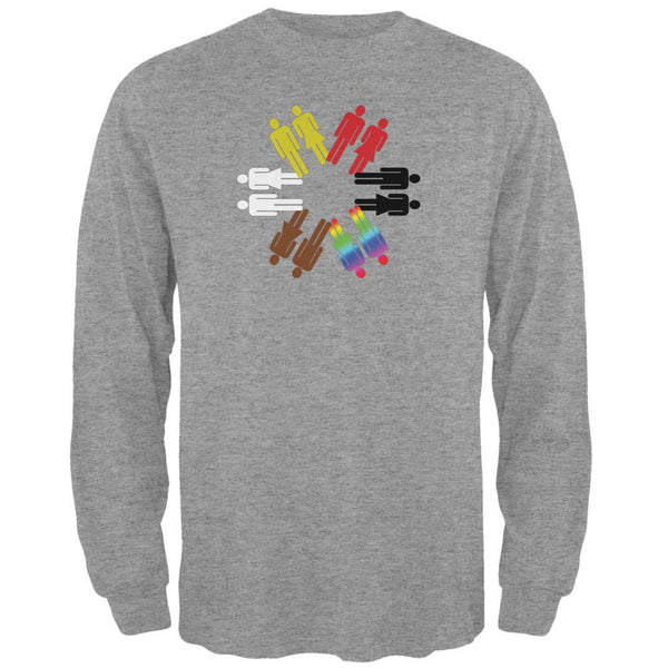 Everybody Matters Heather Grey Adult Long Sleeve T-Shirt