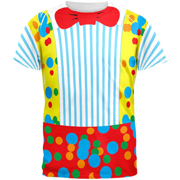 Halloween Clown Costume All Over Adult T-Shirt
