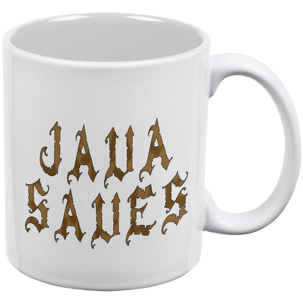 Java Saves Funny White All Over Coffee Mug