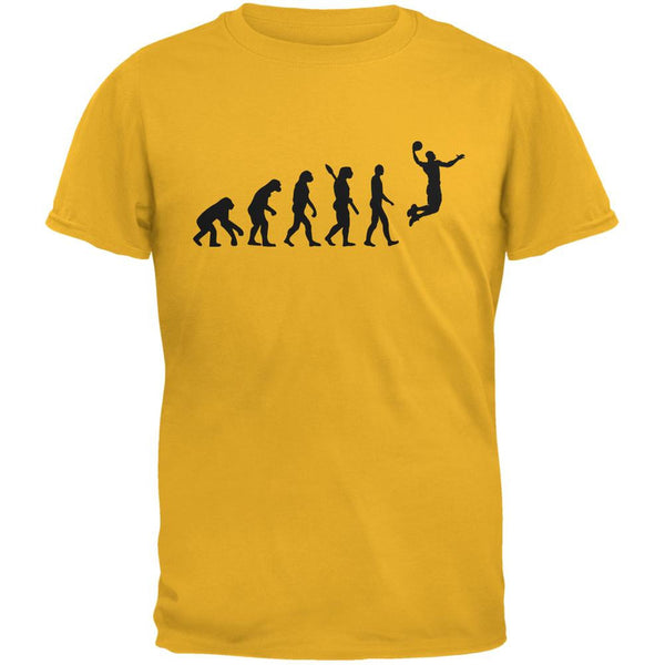 Basketball Evolution Gold Adult T-Shirt