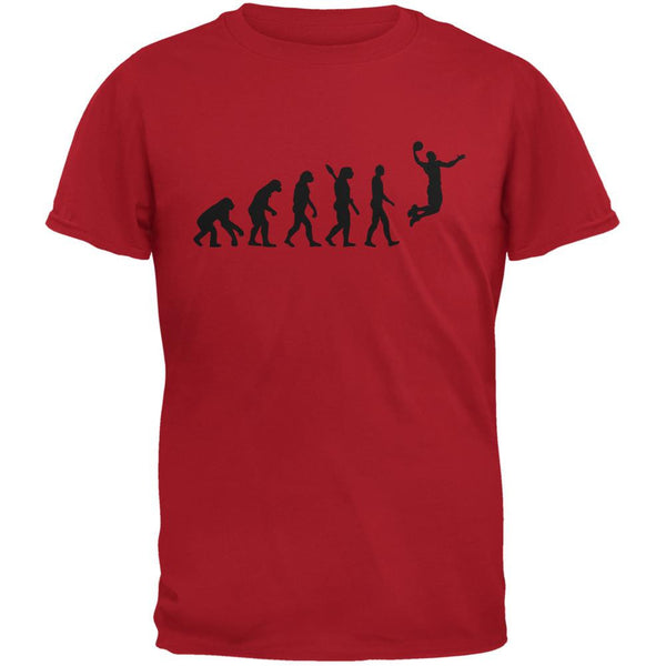 Basketball Evolution Red Adult T-Shirt