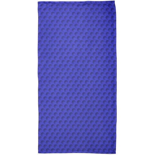 Halloween Golf Ball Costume Blue All Over Beach Towel