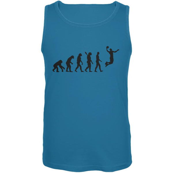 Basketball Evolution Turquoise Adult Tank Top