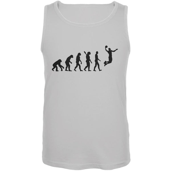 Basketball Evolution White Adult Tank Top
