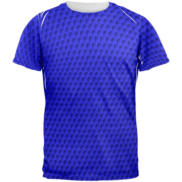 Halloween Golf Ball Costume Blue All Over Adult T-Shirt
