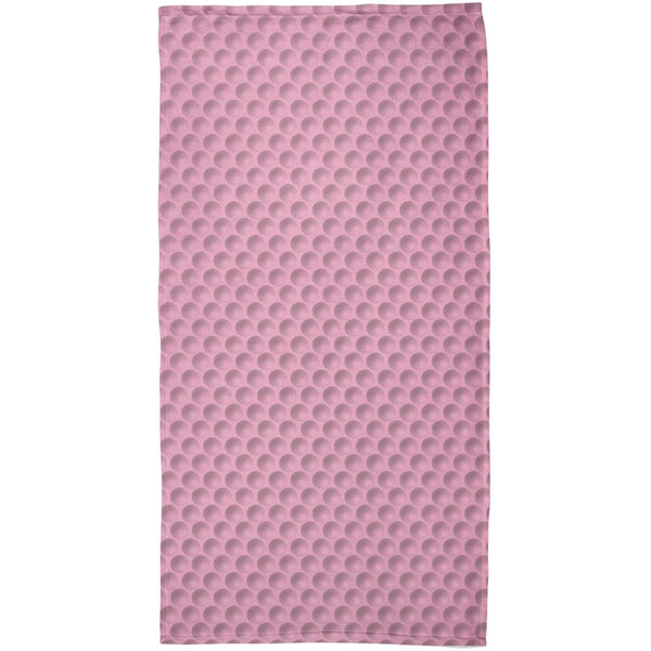 Halloween Golf Ball Costume Pink All Over Beach Towel