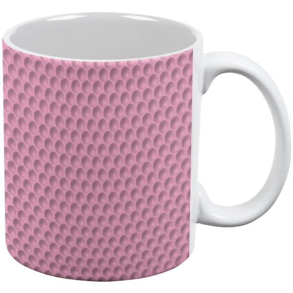 Halloween Golf Ball Costume Pink Pink All Over Coffee Mug