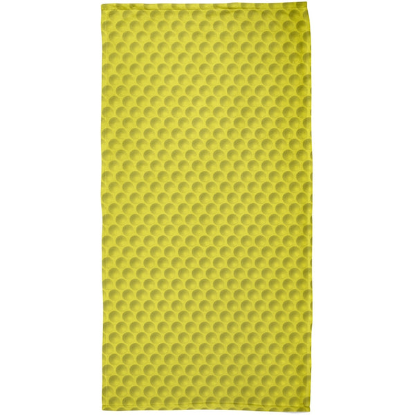 Halloween Golf Ball Costume Yellow All Over Beach Towel