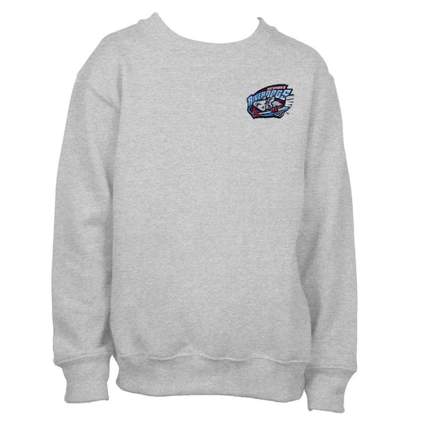 Richmond Riverdogs - Crest Logo Grey Youth Crew Sweatshirt