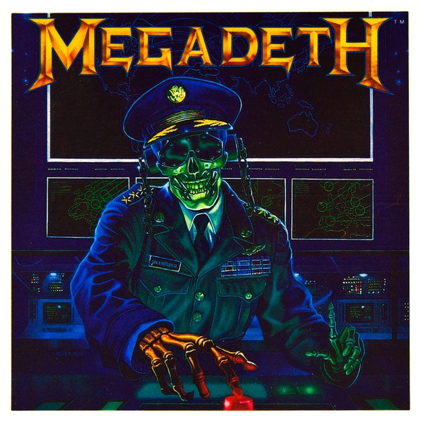 Megadeth - Button Pusher Cling-On Sticker