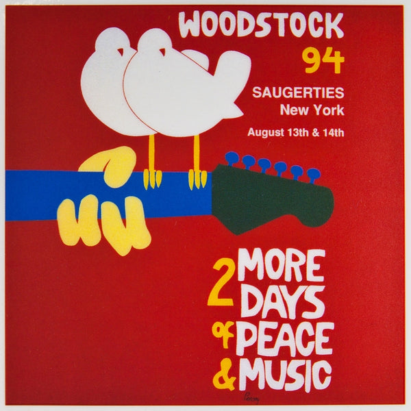 Woodstock 94 - Cling-On Red Sticker