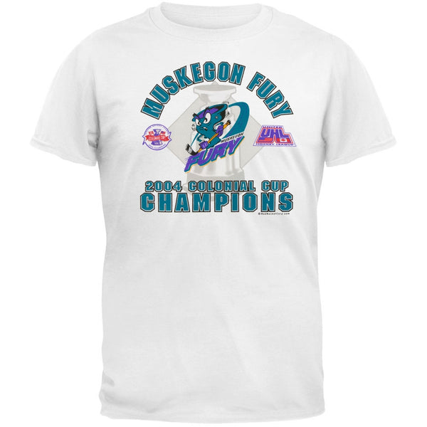 Muskegon Fury - 2004 Championship White Adult T-Shirt