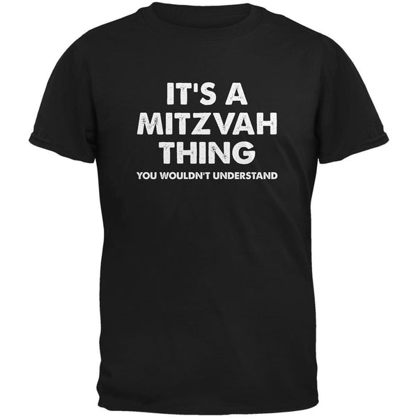 It's A Mitzvah Thing Black Adult T-Shirt