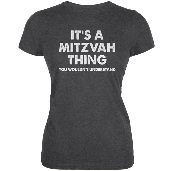 It's A Mitzvah Thing Dark Heather Juniors Soft T-Shirt