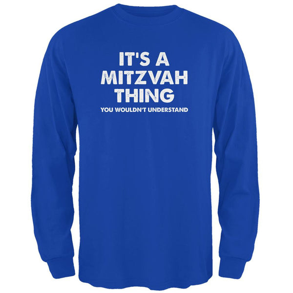 It's A Mitzvah Thing Royal Adult Long Sleeve T-Shirt