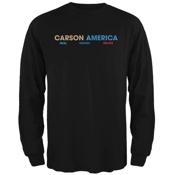 Election 2016 Ben Carson Heal Inspire Revive Black Adult Long Sleeve T-Shirt