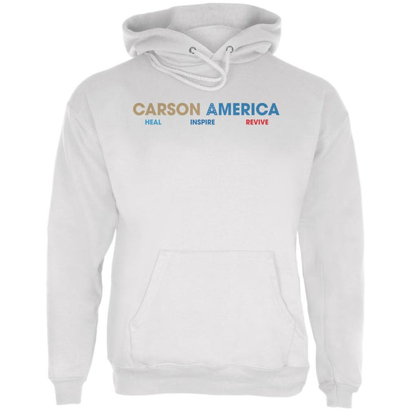 Election 2016 Ben Carson Heal Inspire Revive White Adult Hoodie