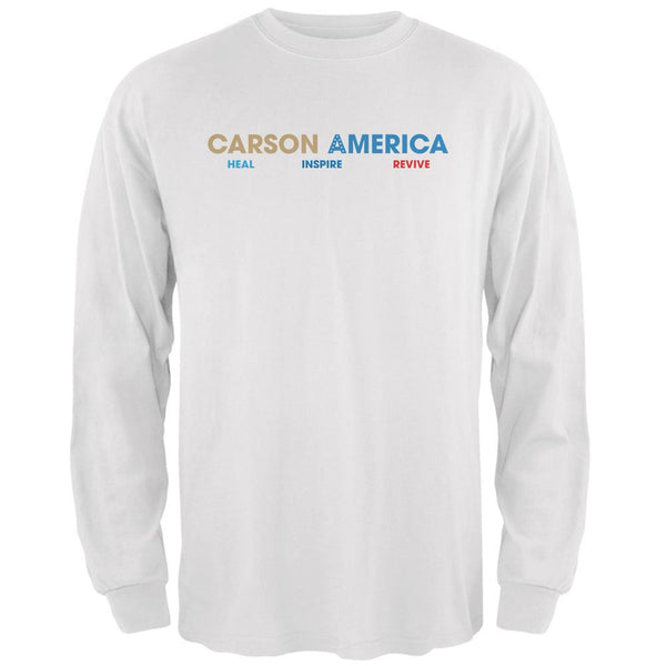 Election 2016 Ben Carson Heal Inspire Revive White Adult Long Sleeve T-Shirt