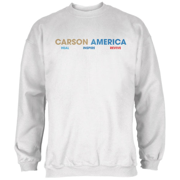 Election 2016 Ben Carson Heal Inspire Revive White Adult Sweatshirt